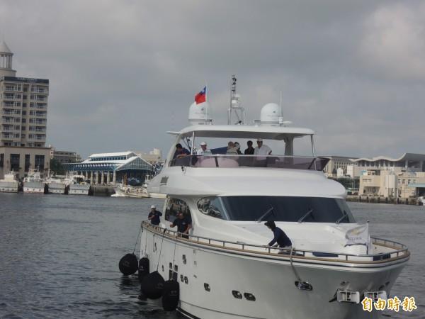 澎湖縣政府開發頂級客源,全力協助興建遊艇專用基地。(記者劉禹慶攝)