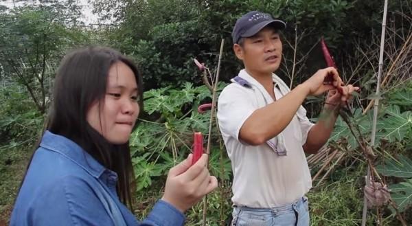 淡江大學學生以紀錄短片方式,拍攝在地有機農友盧建和故事。(擷取自影片)