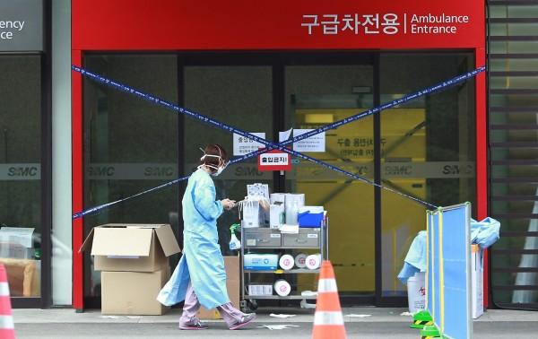 南韓MERS疫情擴大,官方今天公布,增至64確診病例、另有5人死亡。(資料照,歐新社)