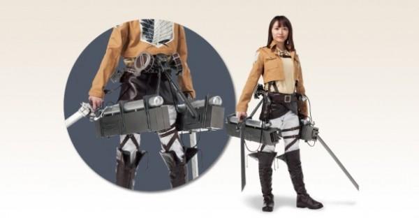 日本7-11無極限!推出《進擊的巨人》1比1「立體機動裝置」預購。(圖擷自網路)