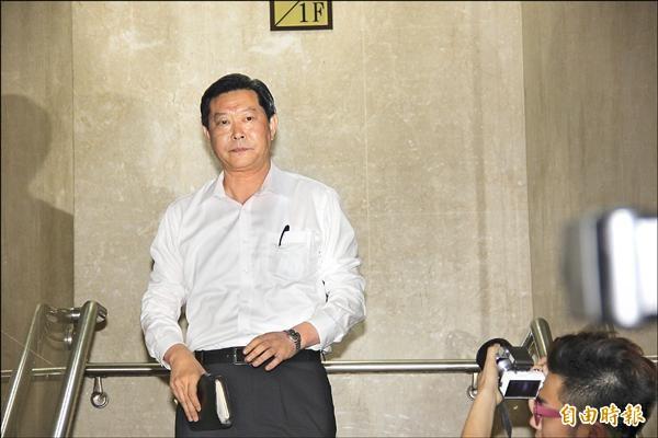 台北地檢署首次傳喚王燕軍出庭作證。(記者吳昇儒攝)