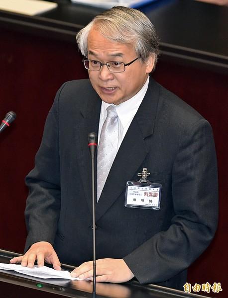 大法官被提名人蔡明誠。(記者廖振輝攝)