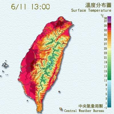 近日連續高溫,民眾要防心血管疾病被誘發(圖擷取自氣象局)