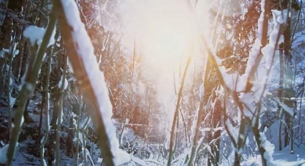 天氣房內也提供多種情境,像是嚴寒的雪地,以及各地的城市風光,搭配上房間內螢幕的顯示,可以讓旅客有身臨其境的感覺。(圖取自YouTube)