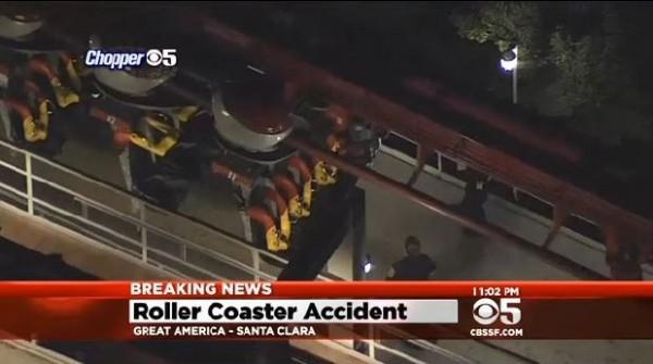 一名員工慘遭雲霄飛車拖行。(圖擷自CBS)