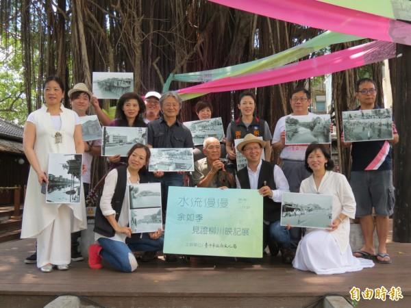 台中文學館看得到枊川的昔日風情。(記者蘇孟娟攝)