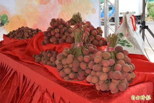太平荔枝品質佳,外銷日本價格翻漲15倍仍供不應求。(記者陳建志攝)