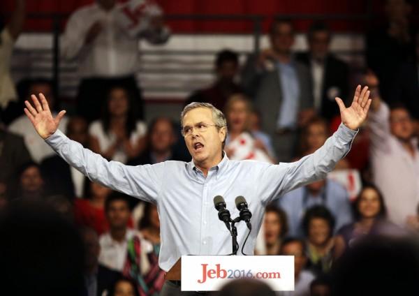 前佛羅里達州州長傑伯.布希(Jeb Bush),宣布角逐白宮寶座。(美聯社)