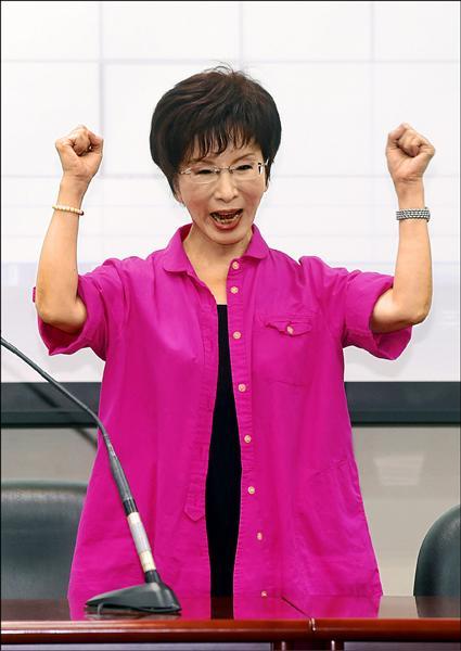 通過國民黨總統初選民調的立法院副院長洪秀柱,強調課綱應尊重憲法。(資料照)