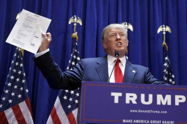 美國房地產大亨川普(Donald Trump)16日宣布參選總統。(美聯社)
