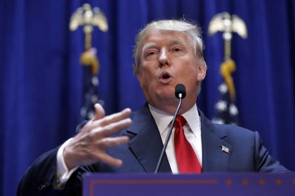 美國房地產大亨川普宣布參選總統。(美聯社)