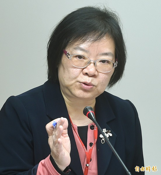 國食藥署署長姜郁美。(資料照,記者方賓照攝)