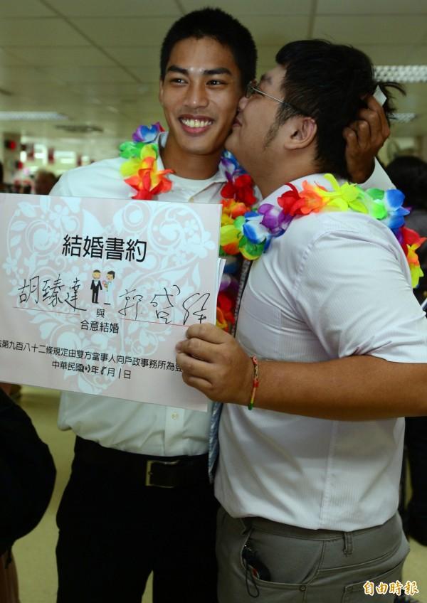 繼高雄市府後,台北市府開放同性伴侶註記。(資料照,記者王藝菘攝)