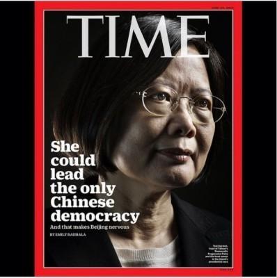 蔡英文躍上《時代雜誌》(TIME)國際版封面。(圖擷自TIME Instagram)