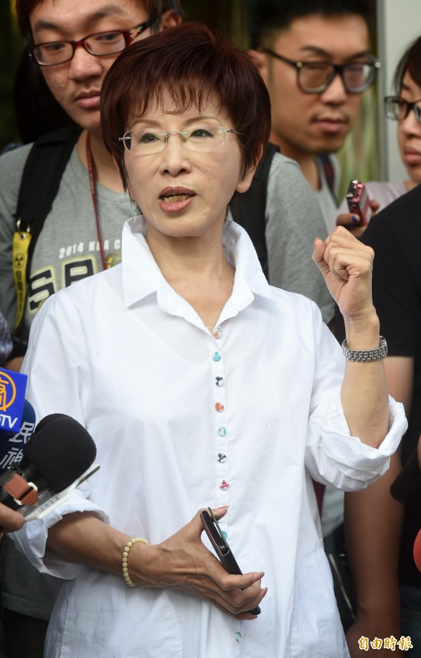 鍾年晃認為,國民黨總統參選人洪秀柱(見圖)的「一中同表」,更可能讓北京緊張。(記者簡榮豐攝)