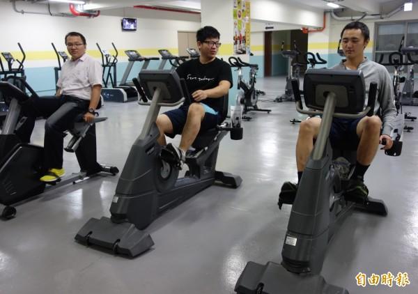 台中榮總設置健身房,讓院內醫護和員工多運動保特身體健康。(記者蔡淑媛攝)