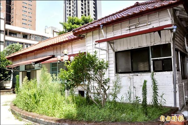 新竹市文化局長廖志堅等人前往南大路警察局官舍探勘,期許以「老樹舍」計畫賦予新生命。(記者洪美秀攝)