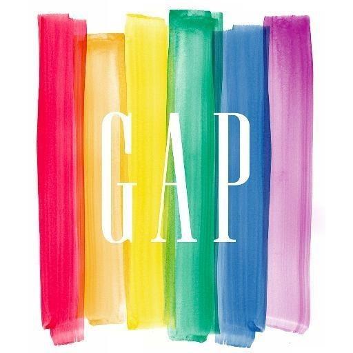 知名服飾品牌GAP將LOGO變成了彩色的。(圖擷自《Buzz Feed》)