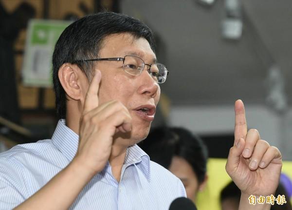 台北市長柯文哲質疑12年國教議題就是去年國民黨敗選主因,為什麼教育部長吳思華還要「硬幹」?(記者廖振輝攝)
