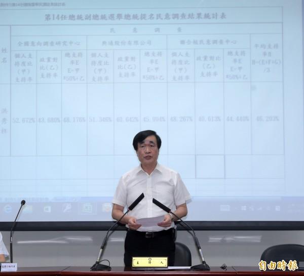 國民黨秘書長李四川則指示國民黨將捐款100萬元,全體黨務主管也將捐出一日所得給予「新北市社會救濟會報專戶」。(資料照,記者王敏為攝)