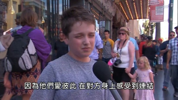 《吉米夜現場》節目到街頭訪問小孩對於同志婚姻議題的看法和理解。(圖擷自B.C._Lowy的Xuite)