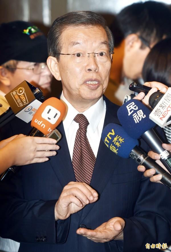前行政院長謝長廷認為,2016總統大選應回歸內政議題,才符合人民期待。(資料照,記者方賓照攝)
