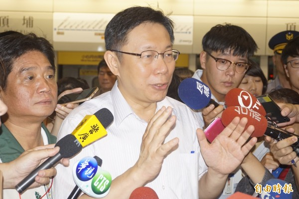 針對屍皮改叫大體皮膚,台北市長柯文哲表示,這拿出來做Call-In節目的討論。(記者張安蕎攝)