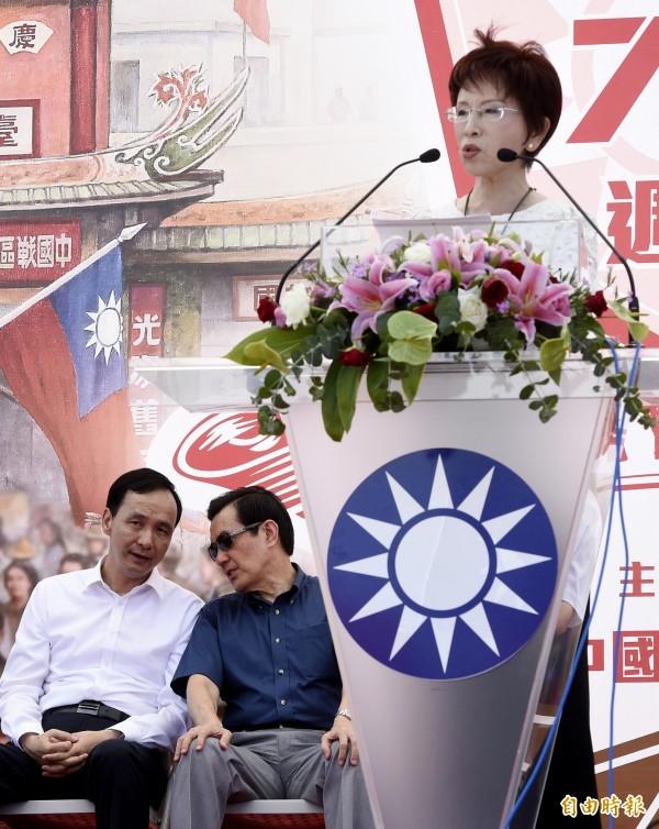 國民黨全代會卡柱之前,國民黨天王內鬥戲碼先上演(資料照,記者叢昌瑾攝)