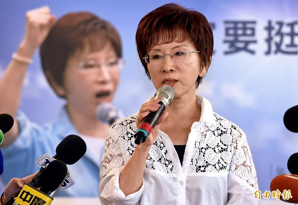 國民黨準總統參選人洪秀柱。(資料照,記者朱沛雄攝)