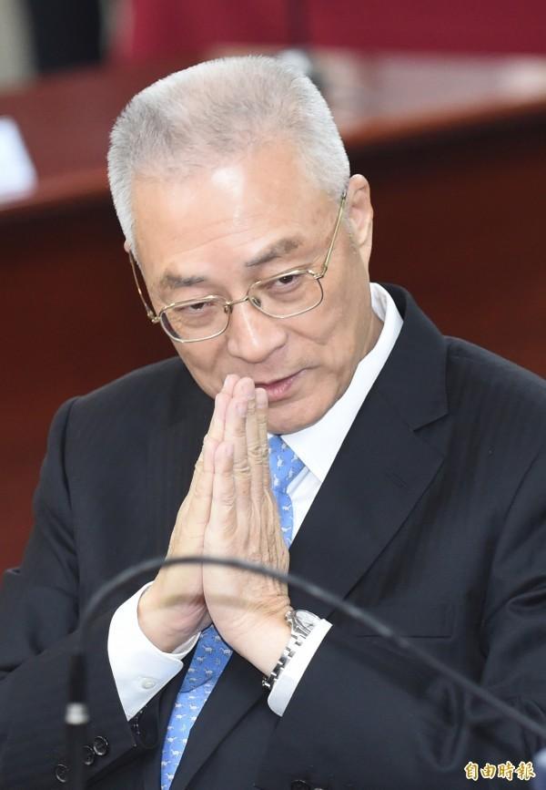 副總統吳敦義今早接受訪問表示,洪秀柱已恢復活力,且必然做過衡量。(資料照,記者劉信德攝)