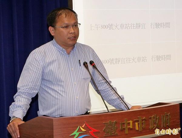 交通局長王義川。(記者張菁雅攝)