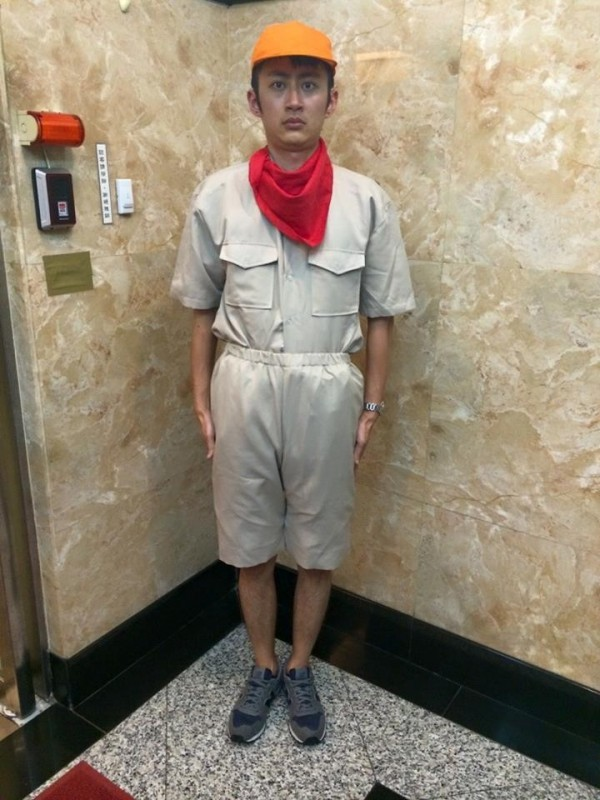 「泛舟哥」張吉吟在個人臉書上提醒大家颱風天勿出門。(圖擷取自張吉吟臉書)