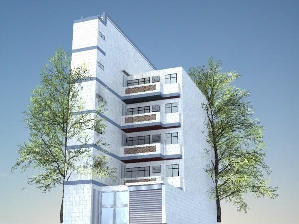 蘆洲區光華段一處老舊公寓申請增設電梯補助。圖為完工後模擬圖。(都更處提供)