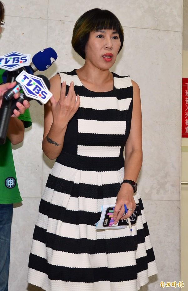 家屬代表唐美娜今日稱網友是不實指控,只是看圖說故事。(資料照,記者王藝菘攝)