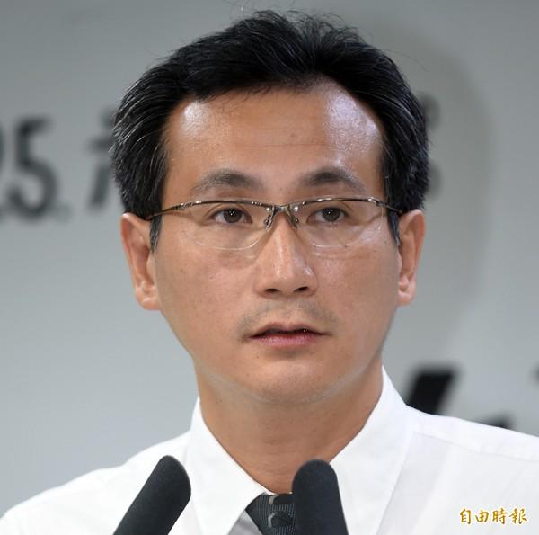 民進黨發言人鄭運鵬。(記者劉信德攝)