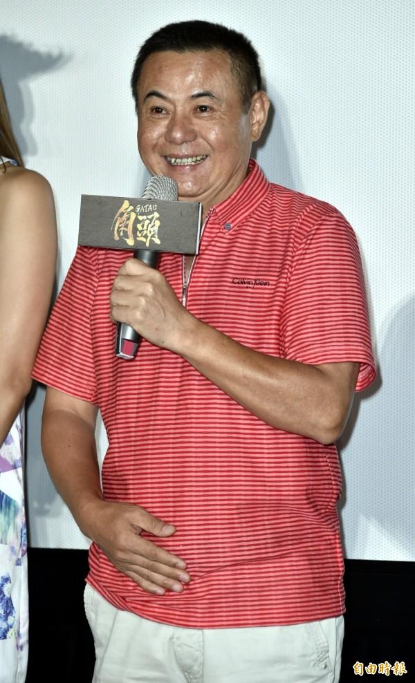 蔡振南出席電影「角頭」記者會。(資料照,記者陳奕全攝)