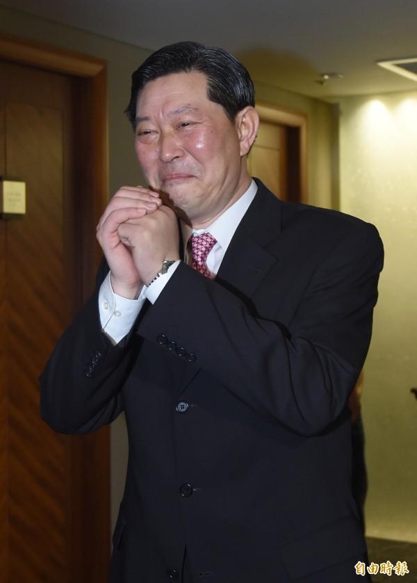 《壹週刊》爆,李前總統辦公室主任王燕軍生活高調奢靡。圖為今年五月底王燕軍出面說明遭襲經過。(資料照,記者劉信德攝)