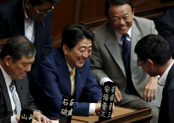 日本眾議院今天通過新《安保法》。(路透)