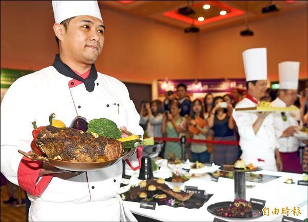 台灣美食展今天登場,將有超過百位國內外大廚參與,分享餐飲概念。(記者朱沛雄攝)
