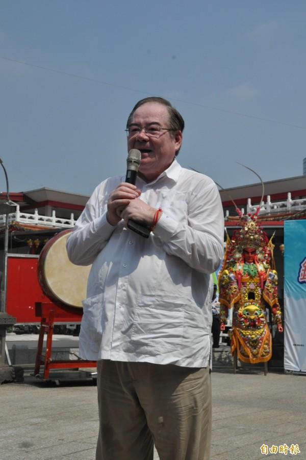 國民黨打算徵召前三重市長李乾龍參選新北市第三選區立委,李乾龍表示還在考慮。(記者郭顏慧攝)