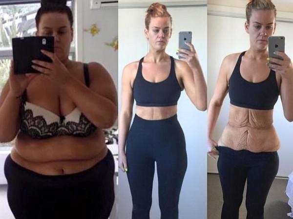 席夢從169公斤瘦到84公斤。(圖取自 Simone's Journey to Health臉書)