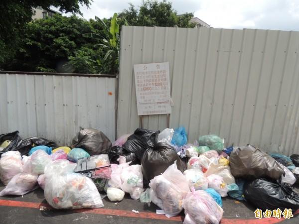 台北市蔡姓男子將裝有死老鼠的垃圾,放在餐飲店旁的路口等垃圾車。示意圖,與本新聞無關。(資料照,記者歐素美攝)