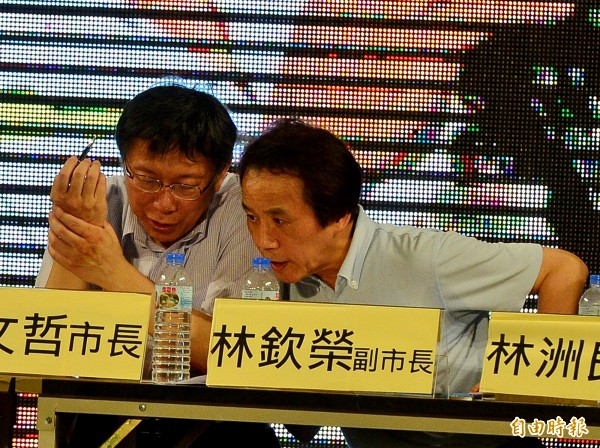台北市長柯文哲今上午為林欽榮緩頰說,人是要用他的優點而不是缺點。(資料照,記者王藝菘攝)