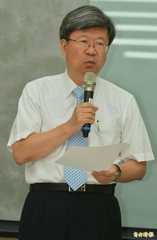 教育部長吳思華。(記者王藝菘攝)