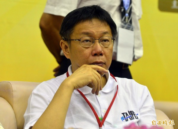面對課綱爭議,台北市長柯文哲直指教育部長吳思華是打手。(資料照,記者王藝菘攝)