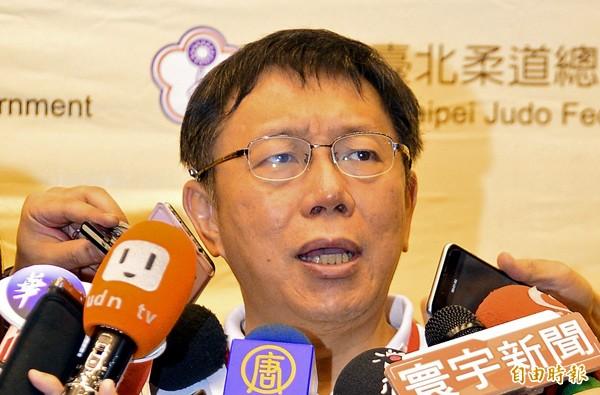 台北市長柯文哲。(記者王藝菘攝)