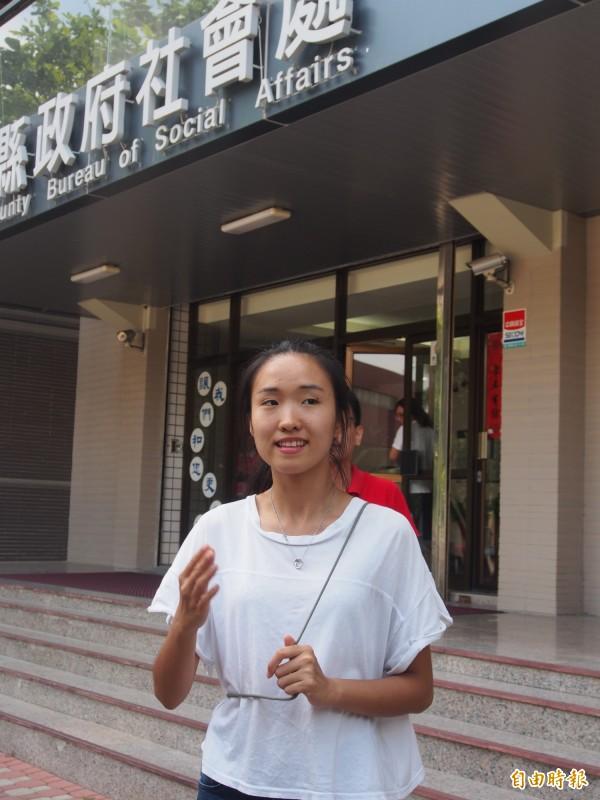 明天將離台的吳欣倩表示她很愛台灣,因此之後還會再來,並相約今年10月再見。(記者王秀亭攝)