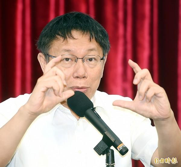 周玉蔻批評柯文哲,「閃閃躲躲,何異於投機政客?」(記者方賓照攝)
