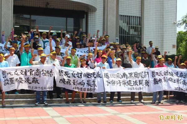 震南鐵線公司預計在阿蓮區設置工廠。(記者陳祐誠攝)
