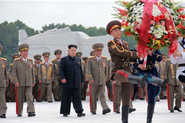 北韓最高領導人金正恩日前出席兩韓停戰62周年紀念日一系列活動。(法新社)